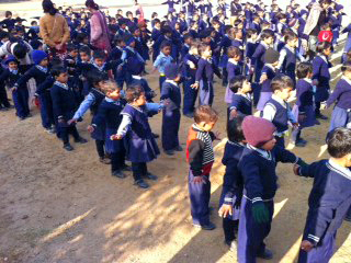 Children in school yard